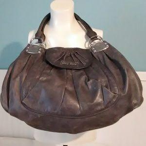 Authentic Miu Miu Vitello Shoulder Bag